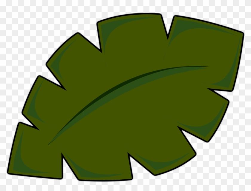 Big Image - Palm Tree Leaf Clip Art #9297