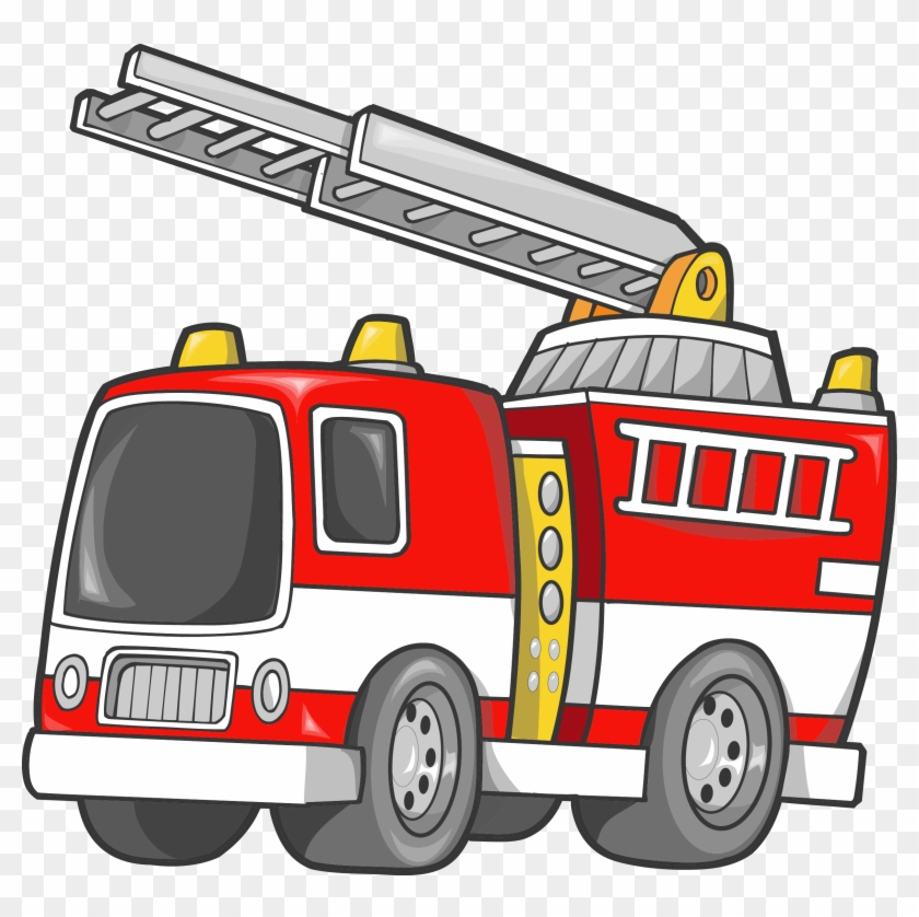 Car Fire Engine Firefighter Truck Clip Art - Fire Truck Clip Art #9319