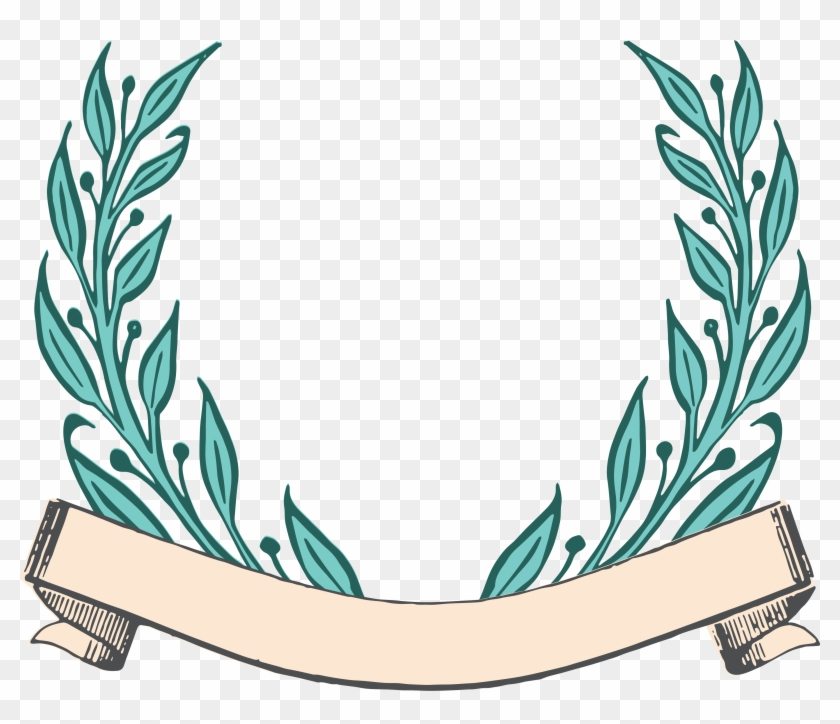 Laurel Wreath Clipart - Vintage Ribbon Vector Free Download #9326