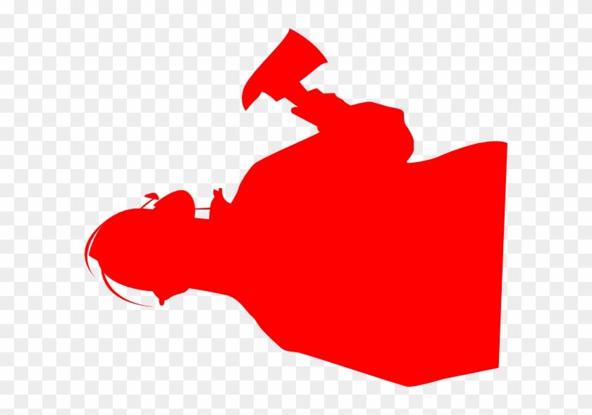 Fireman Red Clip Art - Fireman Silhouette #9325