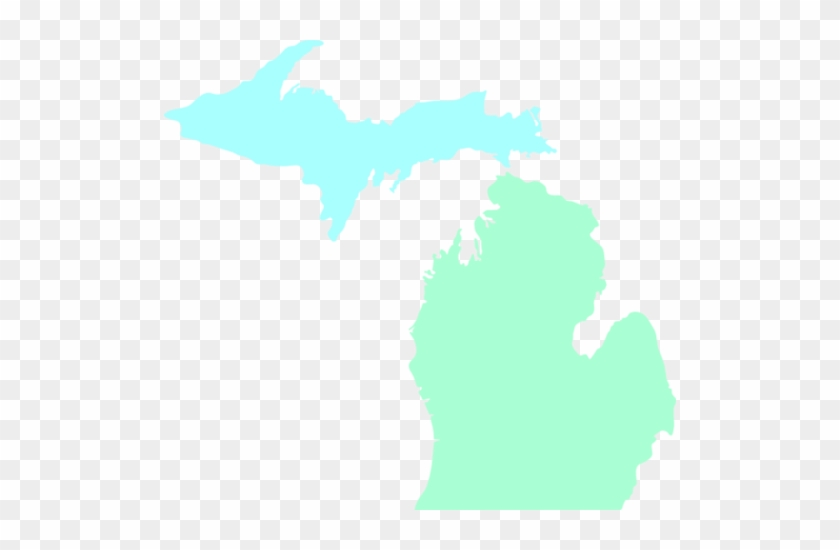 Michigan Map Clean Teal Clip Art Vector Online Royalty - Michigan Department Of Human Services #9339