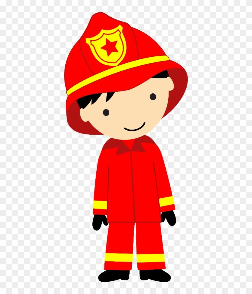 Bombeiros E Polícia - Fireman Kid Png #9347