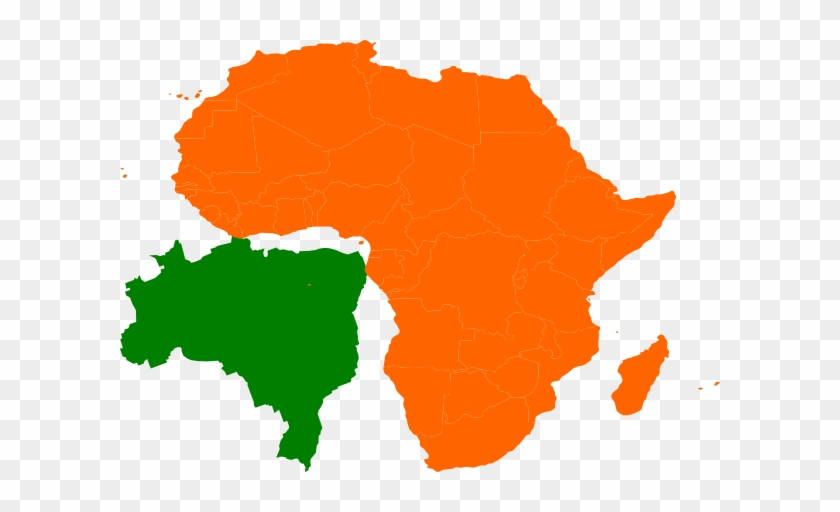 Africa Brazil Map Clip Art At Clker - Brazil And Africa Map #9350