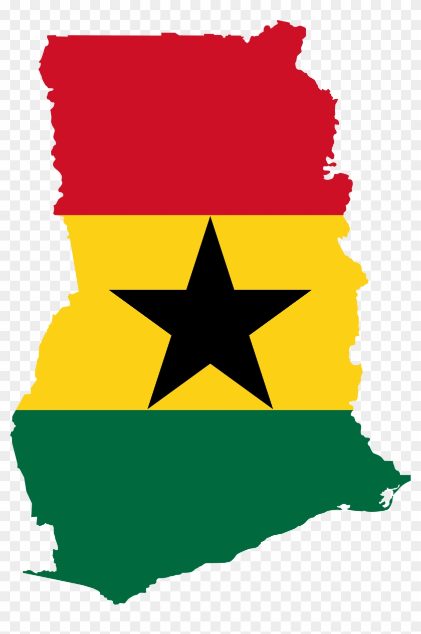 Ghana Clipart Clip Art Library - Ghana Flag Map #9361