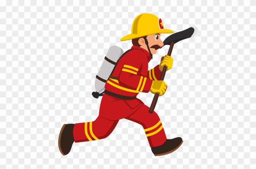Firefighter Clipart Transparent - Firefighter Cartoon #9371