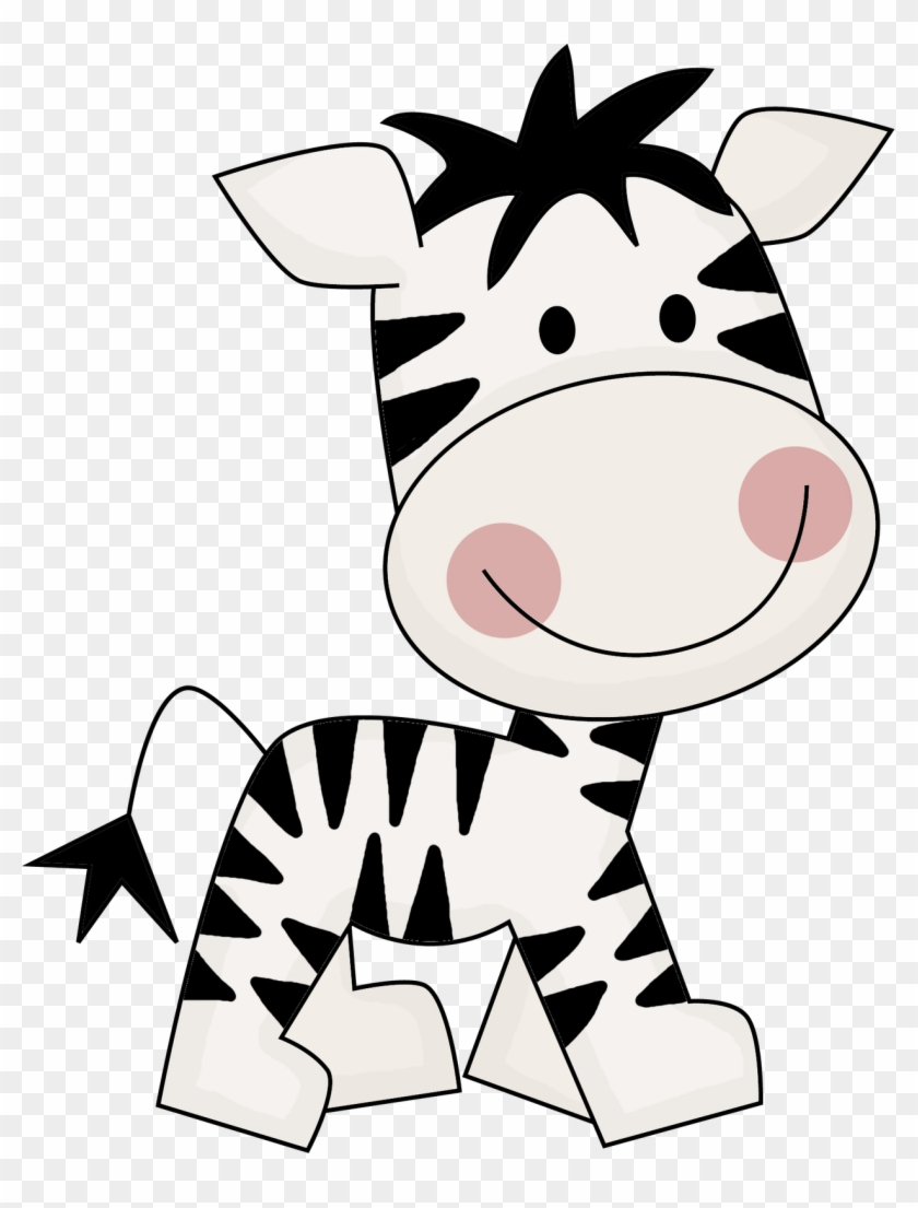 Clipart Girl Zebra Cute - Tags Safari Para Imprimir #9374