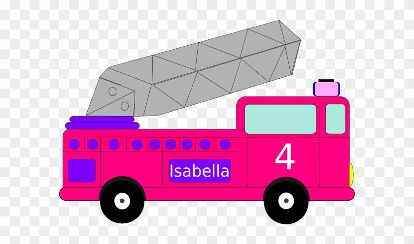 Isabella Birthday Firetruck Clip Art - Fire Truck Clip Art #9373