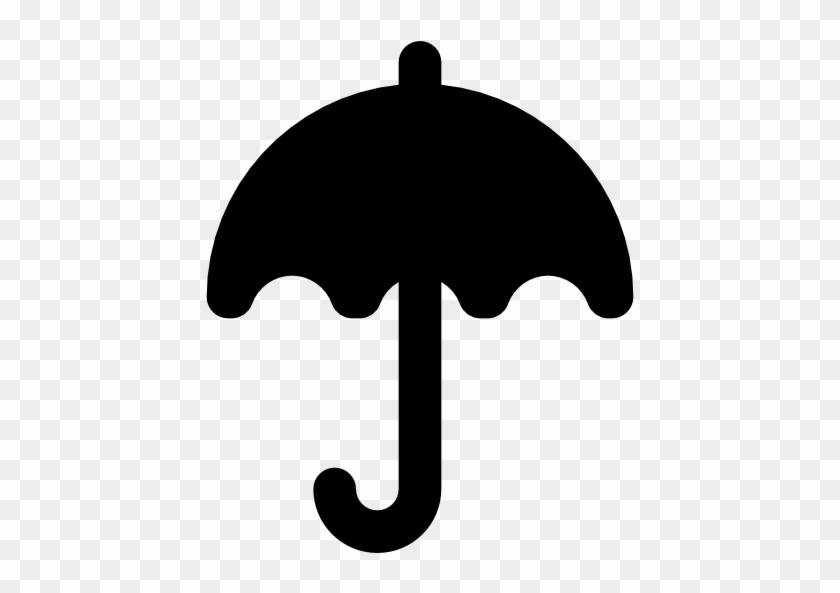 Size - Black Umbrella Clip Art #9385