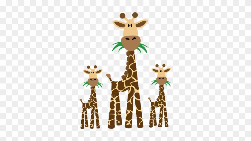 Jungle Clipart Giraffe - Giraffe And Baby Clipart #9389