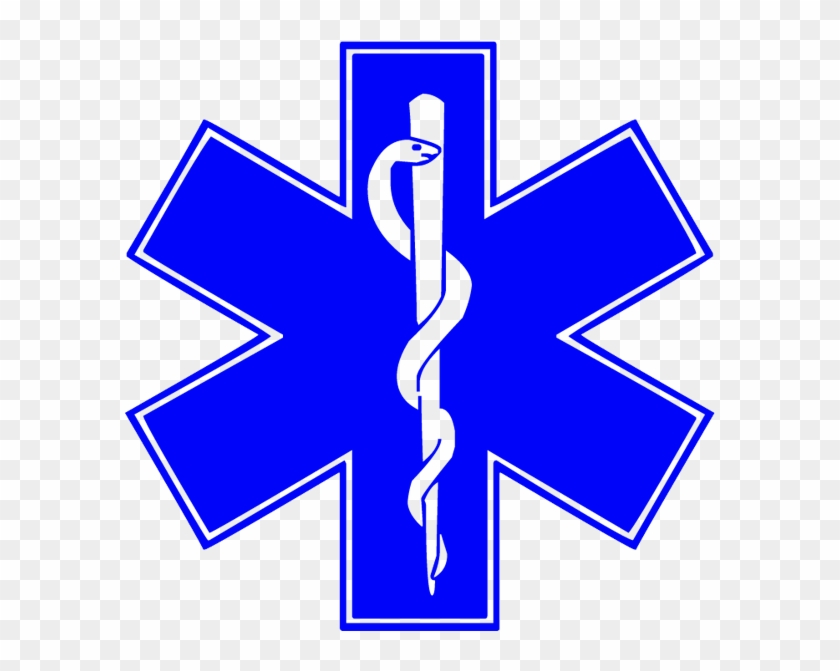 Blue Star Of Life Medical Symbol - Star Of Life Stickers #9414