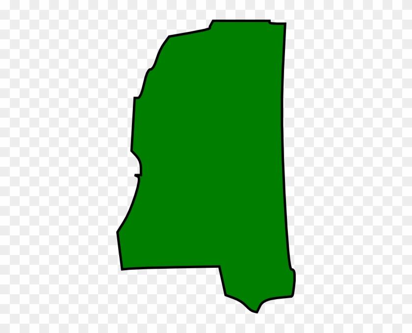 Mississippi Clip Art At Clker - Mississippi State Map Outline #9419