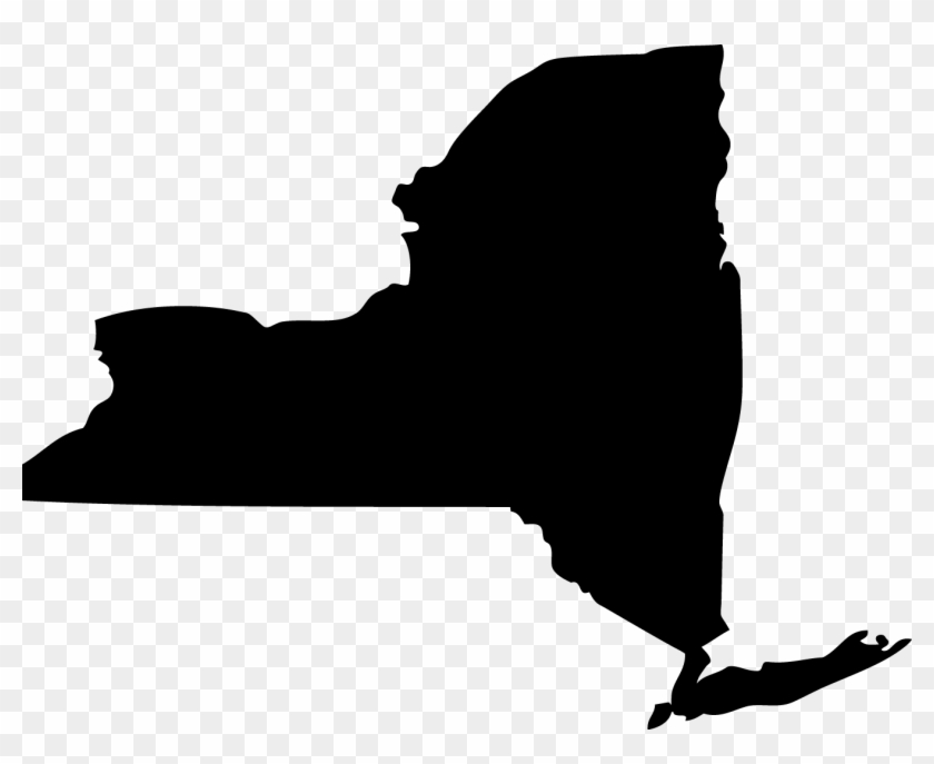 Clip Art New York - New York State Black #9425