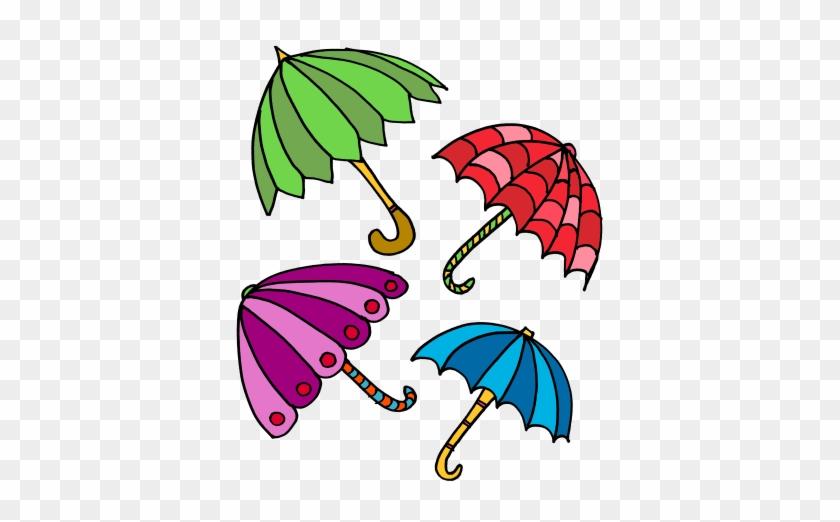 Umbrella Clipart Seven - Seven Umbrellas Clipart #9434
