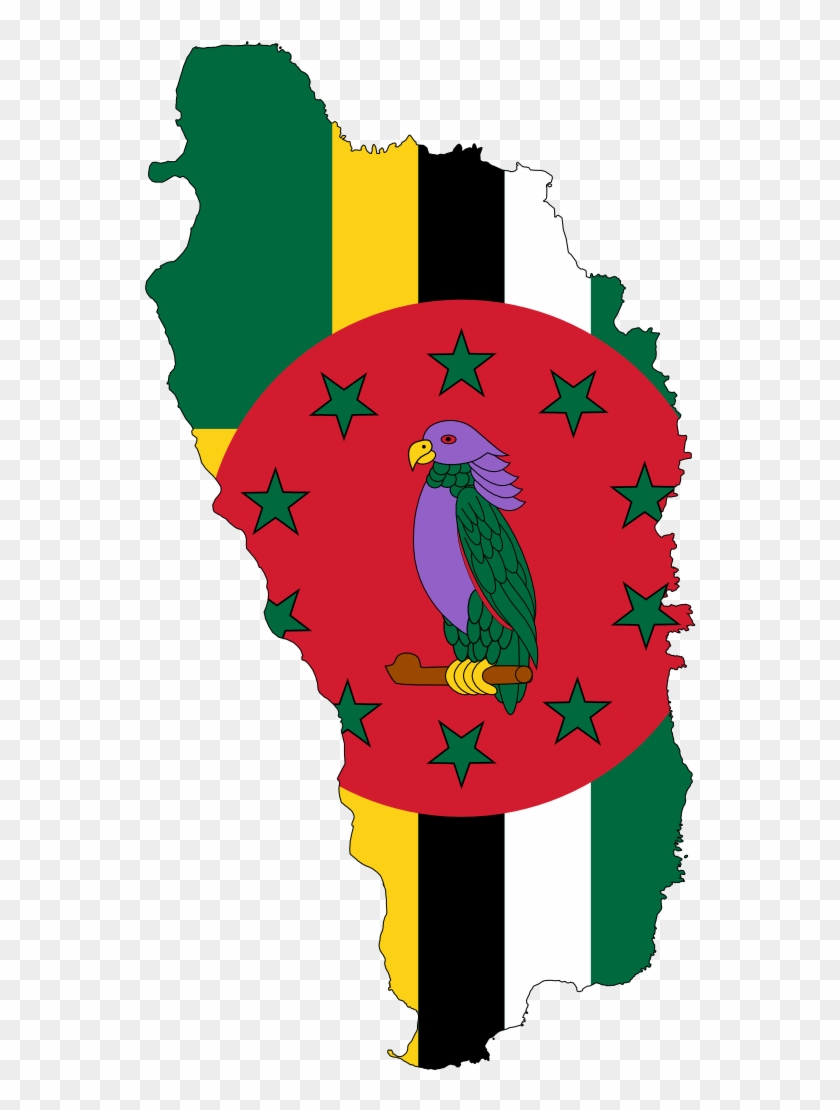 Us Map Clipart - Dominica Map With Flag #9437