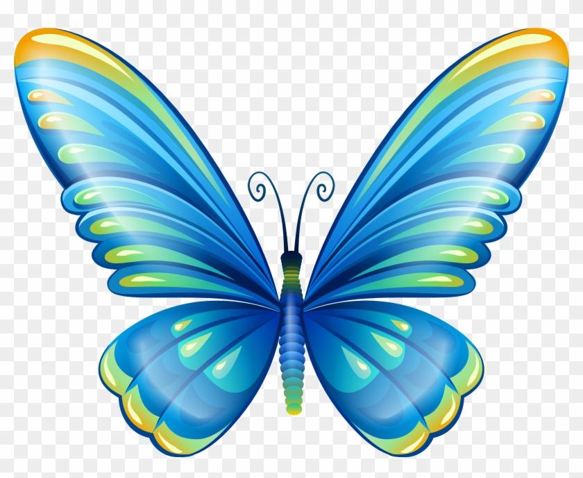 Blue Butterfly Clip Art #9471