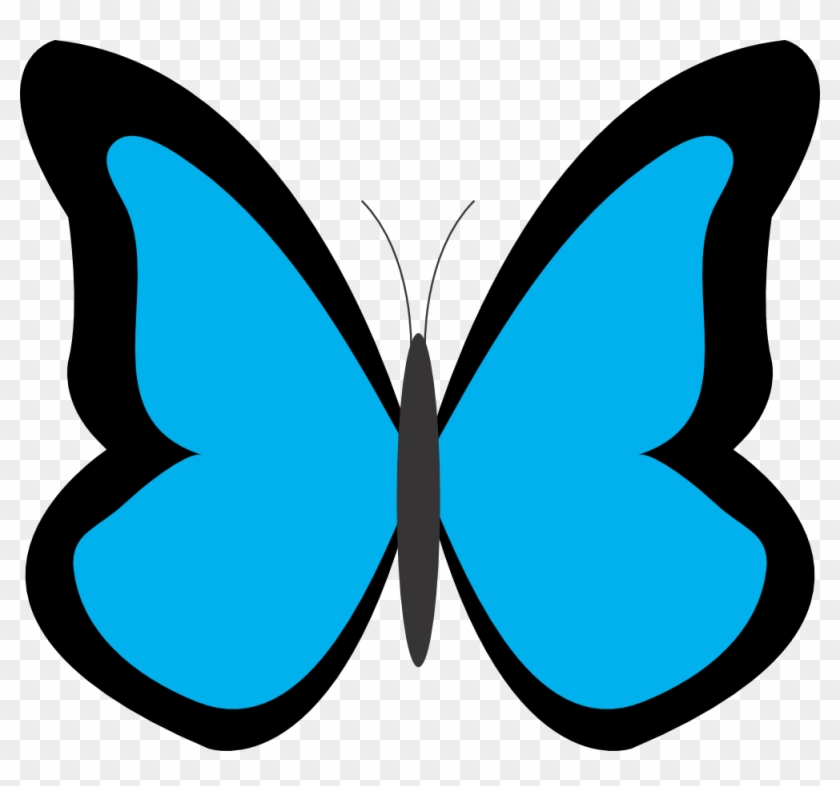 Jungle Clipart Butterfly - Blue Butterfly Clipart #9442