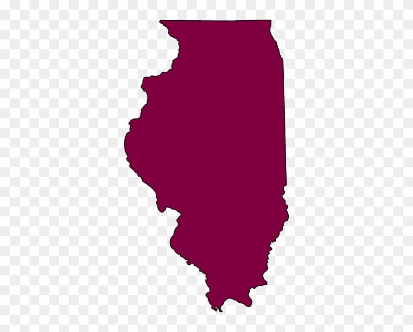 Illinois Map Clipart - State Of Illinois Shape #9449