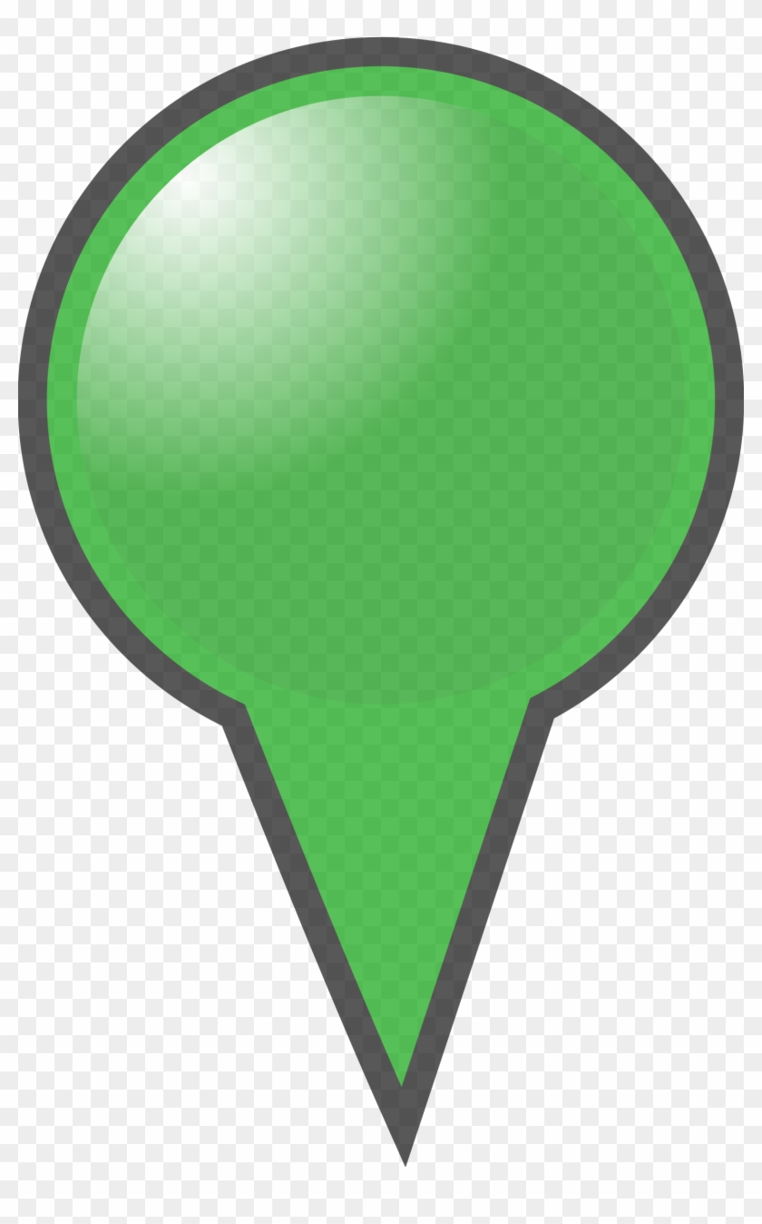 Map Clipart Marker - Map Marker Green Png #9464