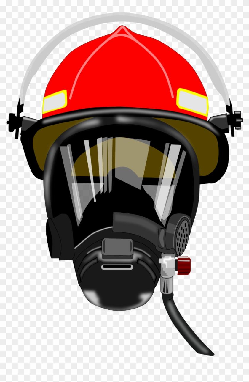 Big Image - Firefighter Mask And Helmet #9466