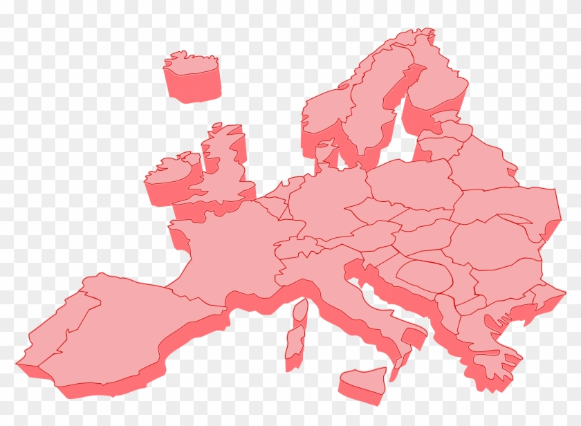 Clipart Europe Map - Europe Map Vector 3d #9468