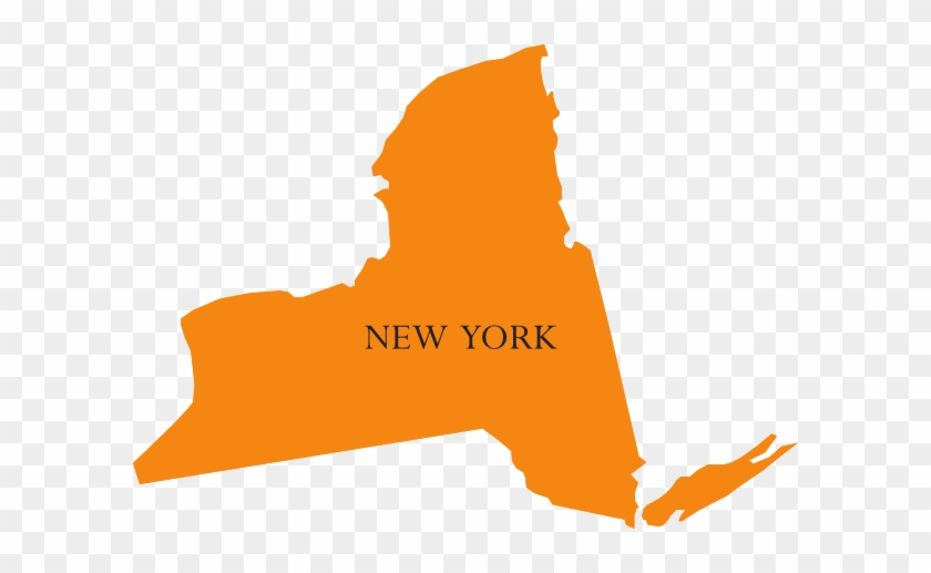 State Of New York Map Clip Art At Clker - New York Map Clipart #9475