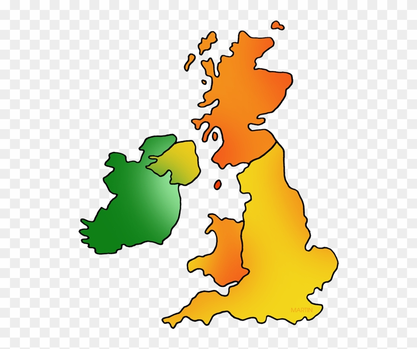Britain Clipart Britain Map - Great Britain Ireland Map #9478