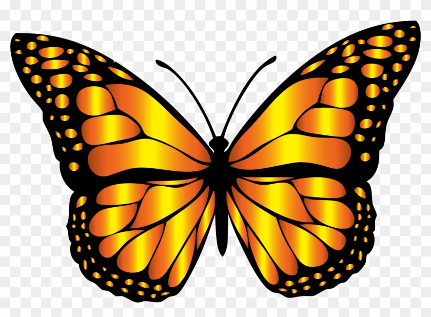 Clipart Orange Butterflies Butterfly Clip Art Free - Clip Art Monarch Butterfly #9487
