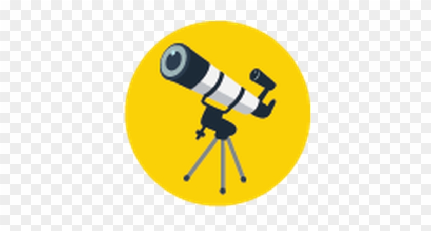 Yellow And Blue - Telescope Clip Art Png #9504