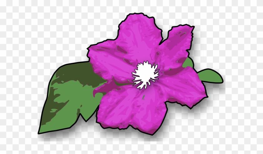 Free Vector Flower Clip Art - Free Clipart Jungle Flower #9505