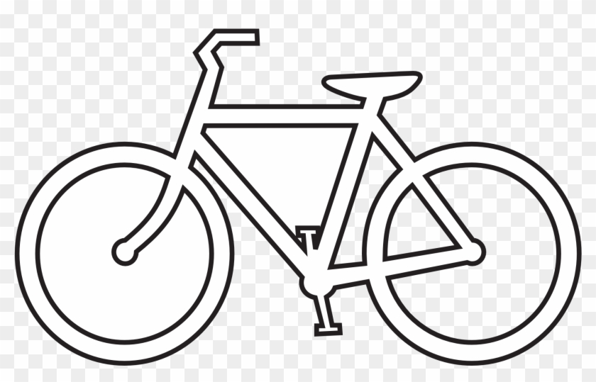 Clipart Line Drawing - Bike Black And White #9515