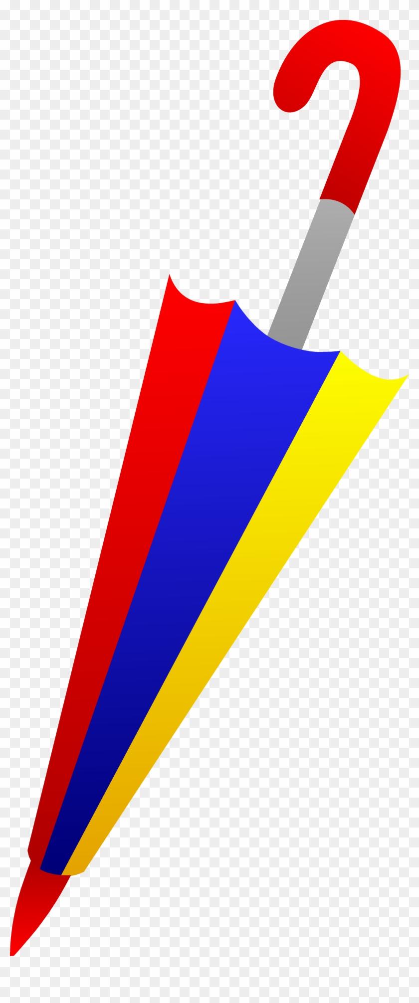 Closed Umbrella Clip Art - Folded Umbrella Clip Art #9533