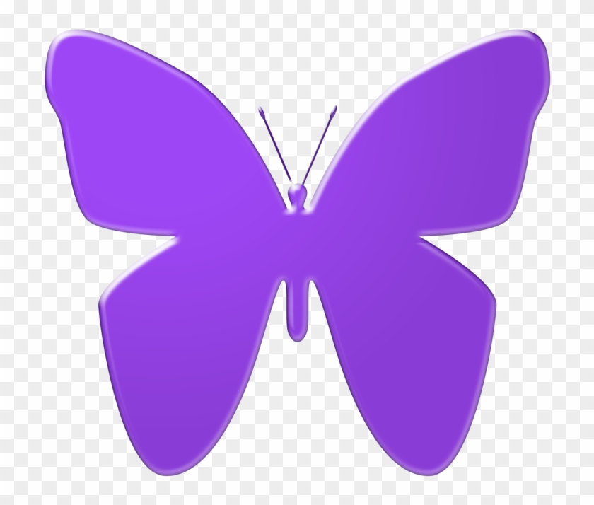 Purple Butterfly Clip Art By Thestockwarehouse - Purple Butterfly Clipart #9522