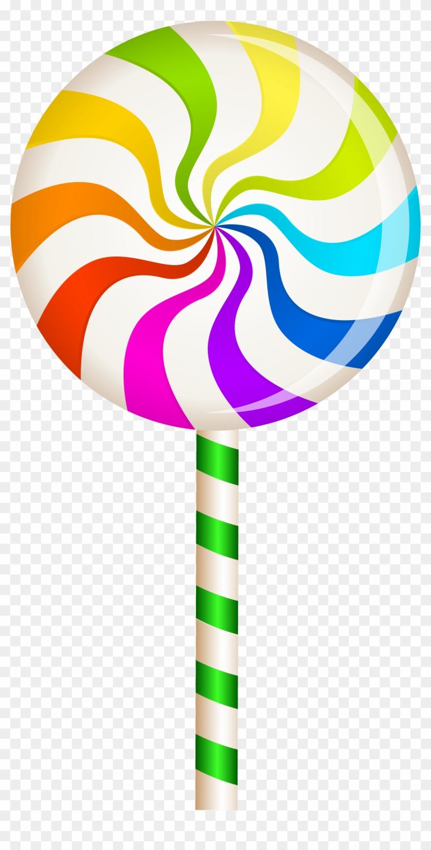Multicolor Swirl Lollipop Png Clip Art Image - Lollipop Clipart #9568