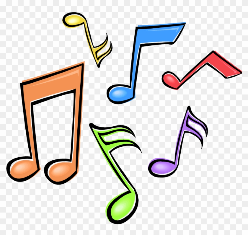 Music Notes Clipart - Musical Notes In Color #9543