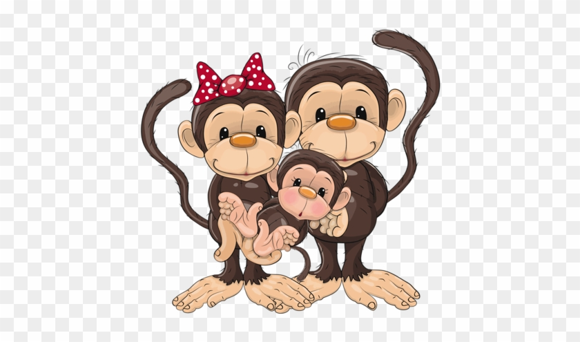 Monkey Family Monkeys Pinterest Baby Monkey Clip Art - Monkey Mothers Day Cards #9555