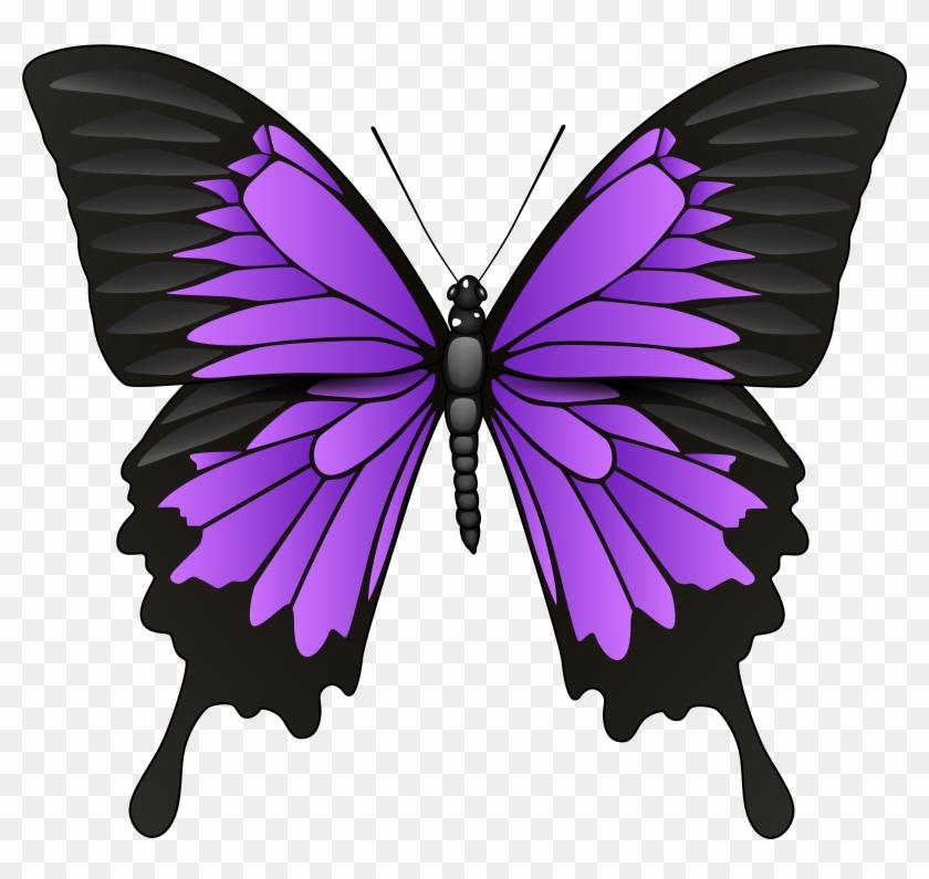 Purple Butterfly Png Clip Art - Purple Butterfly Png Clip Art #9601