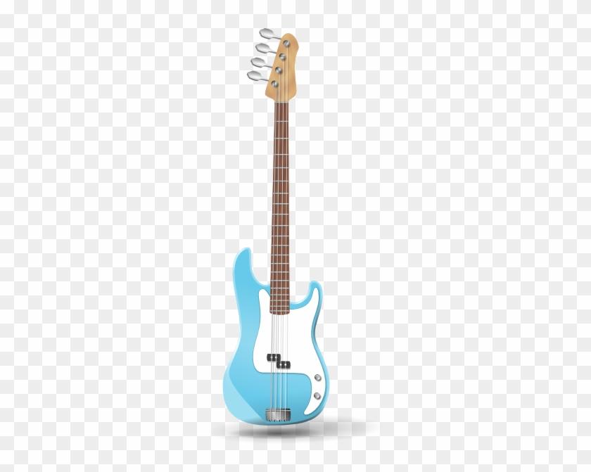 Bass-guitar Clip Art - Bass Guitar Clip Art #9574