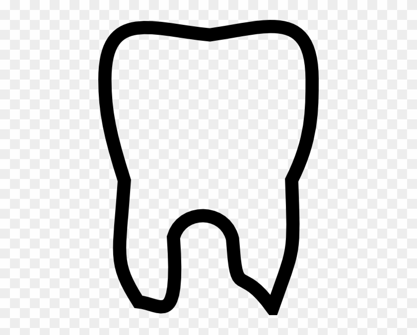 Tooth Images Clip Art Tooth Outline Clip Art At Clker - Tooth Outline Clipart #9634