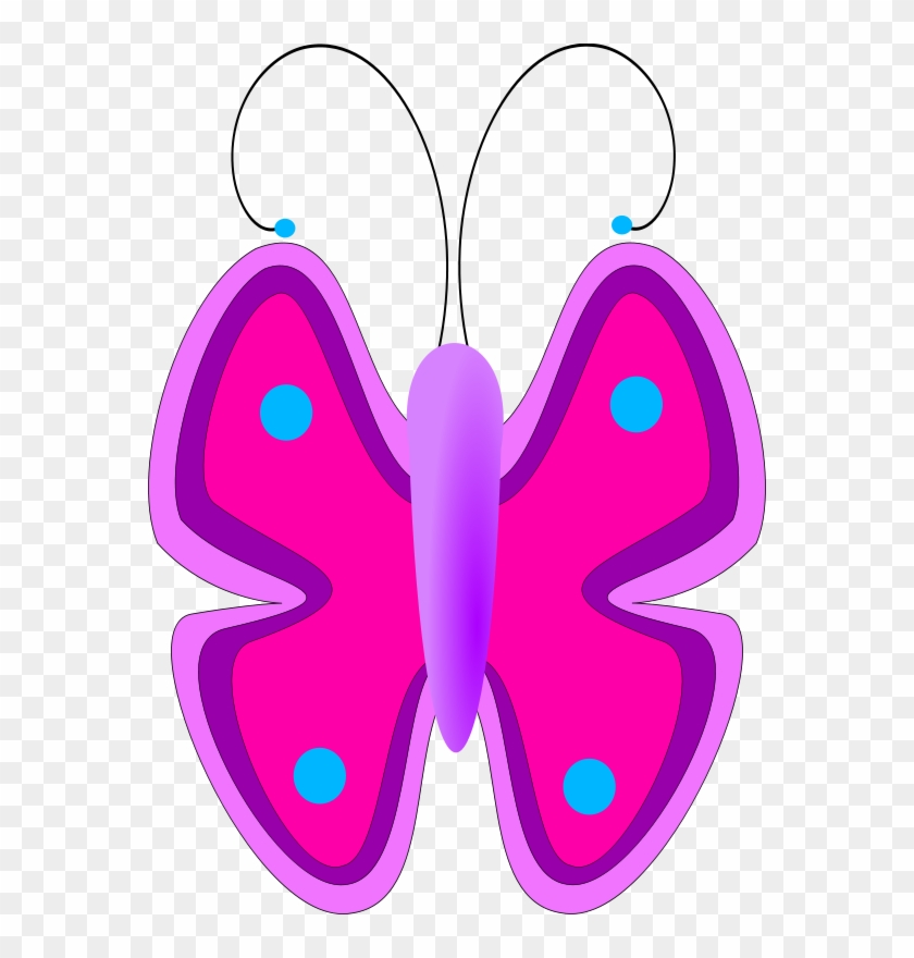 Free Vector Butterfly Clip Art - Animated Butterfly For Kids #9654
