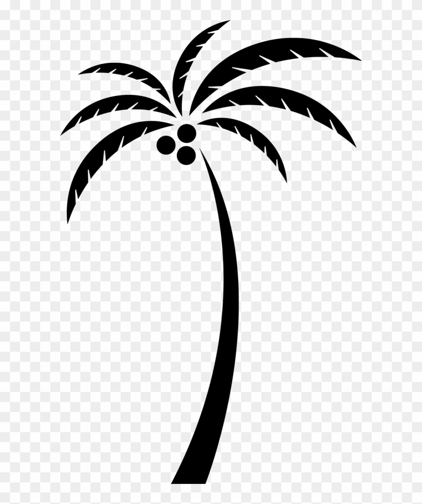 Coconut Arecaceae Tree Clip Art - Coconut Tree Silhouette Vector Png #9672