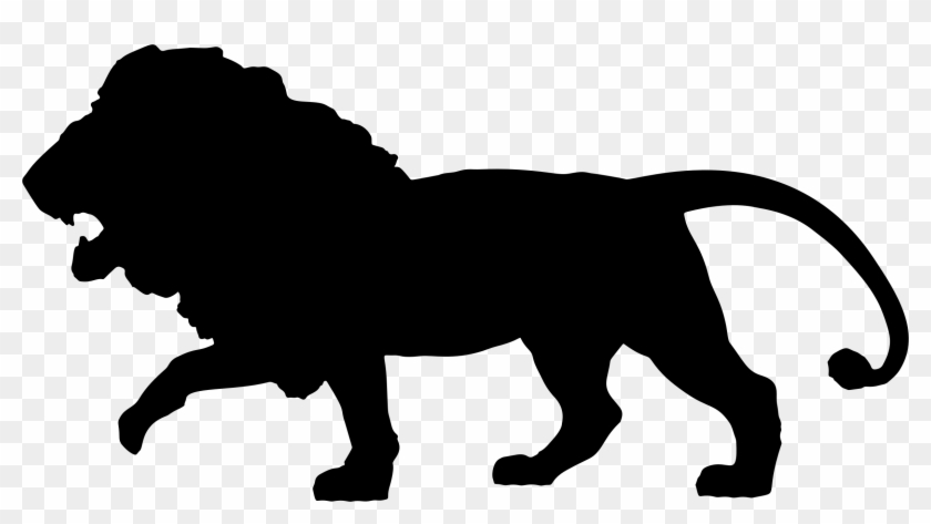Big Image - Silhouette Of A Lion #9676