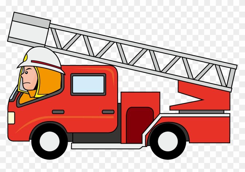Firetruck Cartoon Fire Truck Clipart - Fire Truck Vector Png #9679