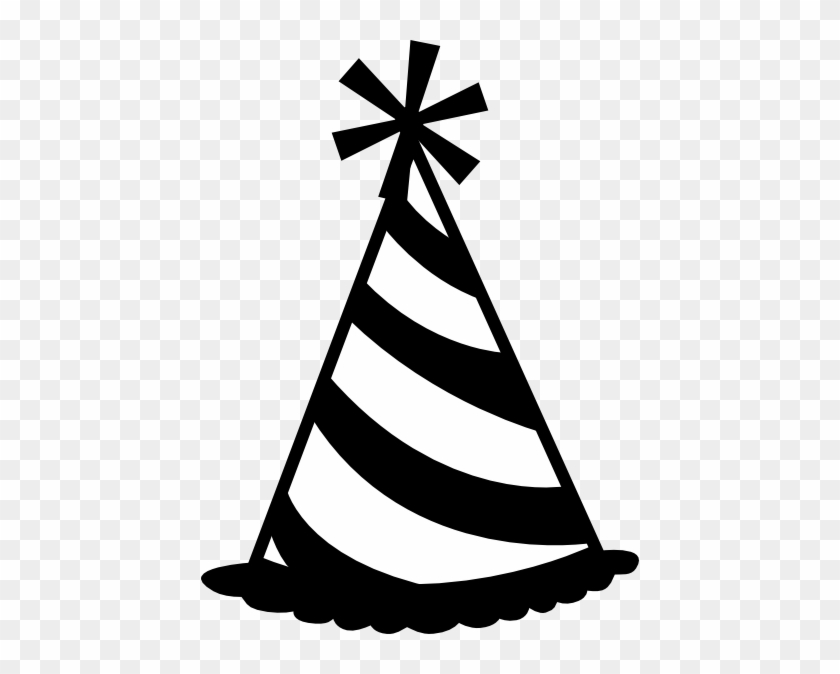Black - And - White - Party - Hat - Clipart - Birthday Hat Clip Art #9695