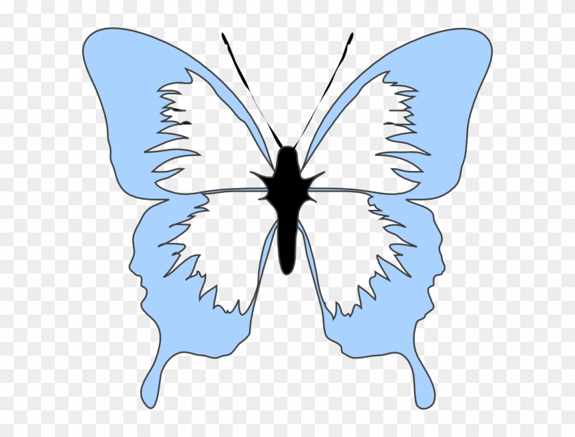 Blue Butterfly Clip Art At Clker - Light Blue Butterfly Clipart #9697