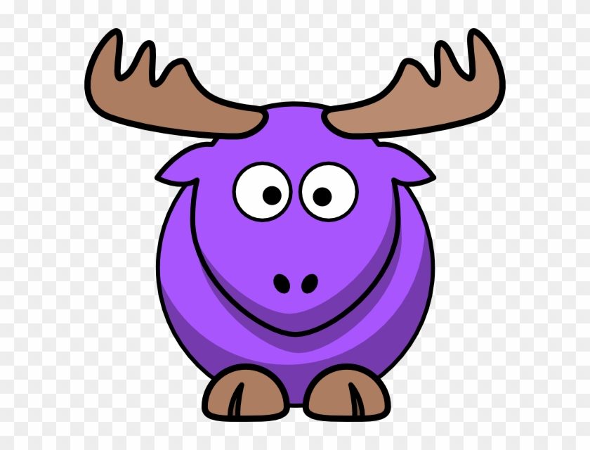 Purple Moose Cartoon Clip Art At Clker - Moose Cartoon #9713