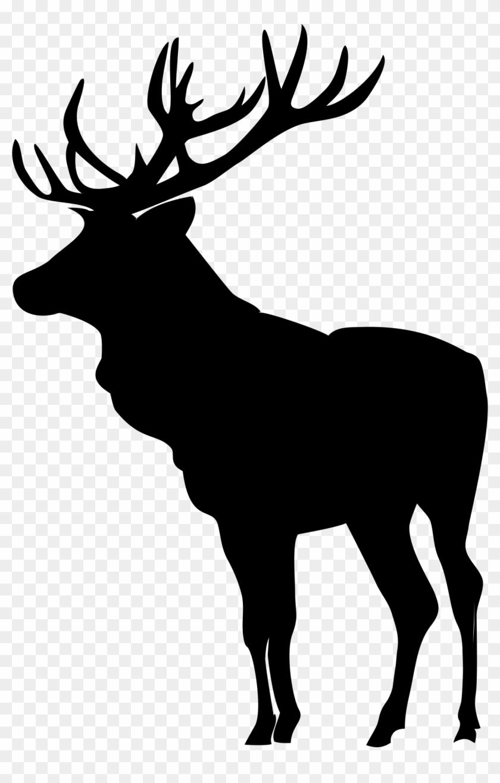 Elk Silhouette Clip Art - Elk Silhouette Png #9722