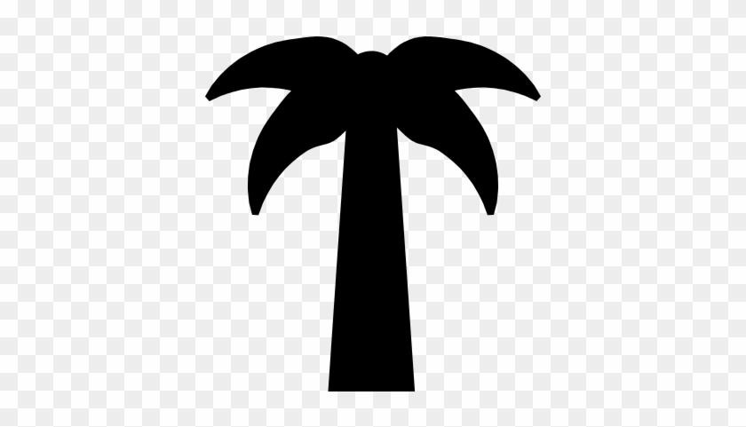 Symmetric Palm Tree Vector - Palm Tree Silhouette Symmetrical #9724