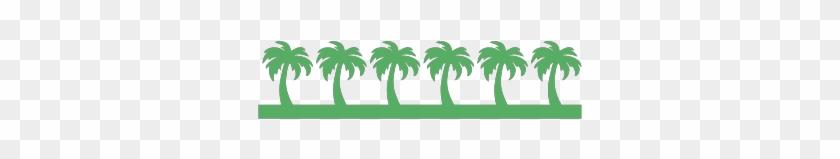Craftwell - Palm Tree Border Clip Art #9726