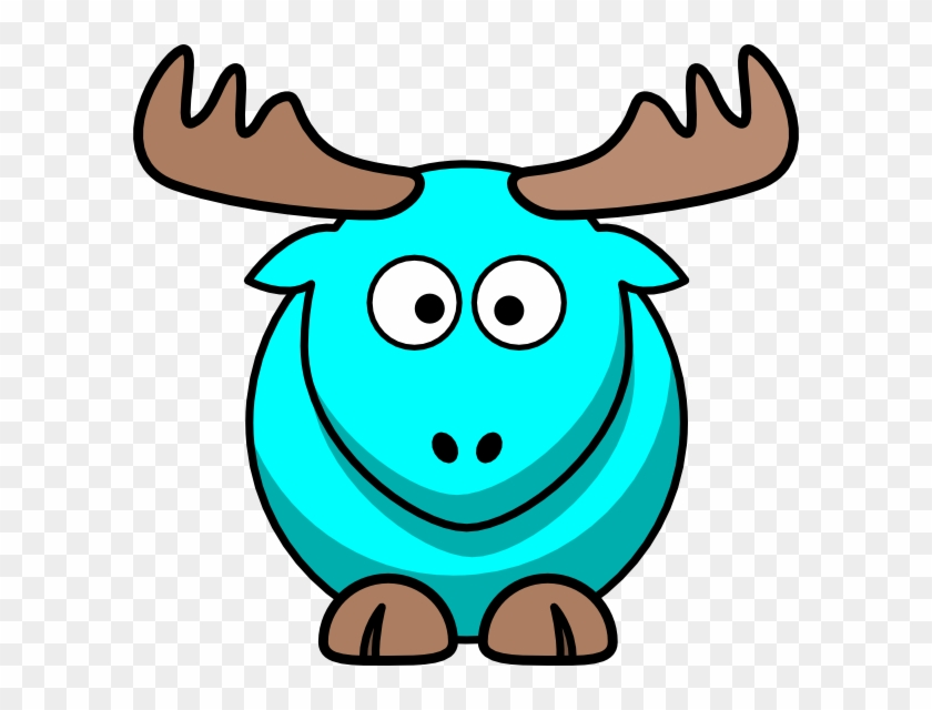 Turquoise Moose Cartoon Clip Art At Clker - Cartoon Goat #9729