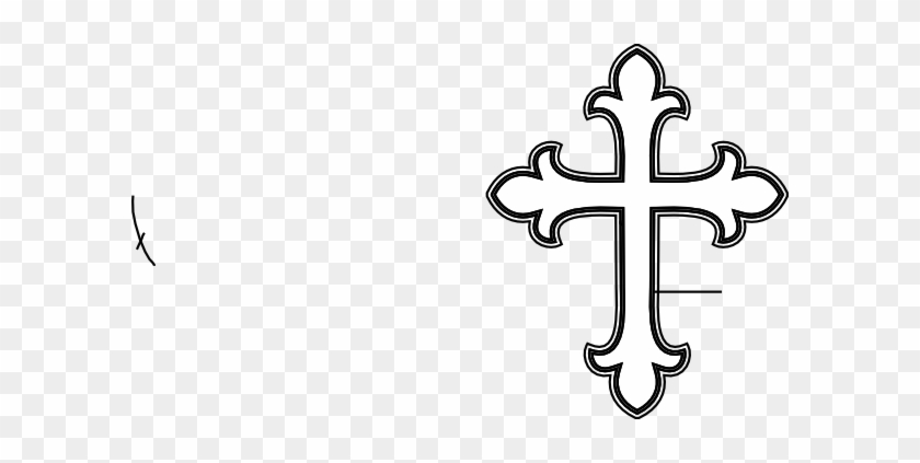 White Cross Clip Art - Fancy Cross #9735